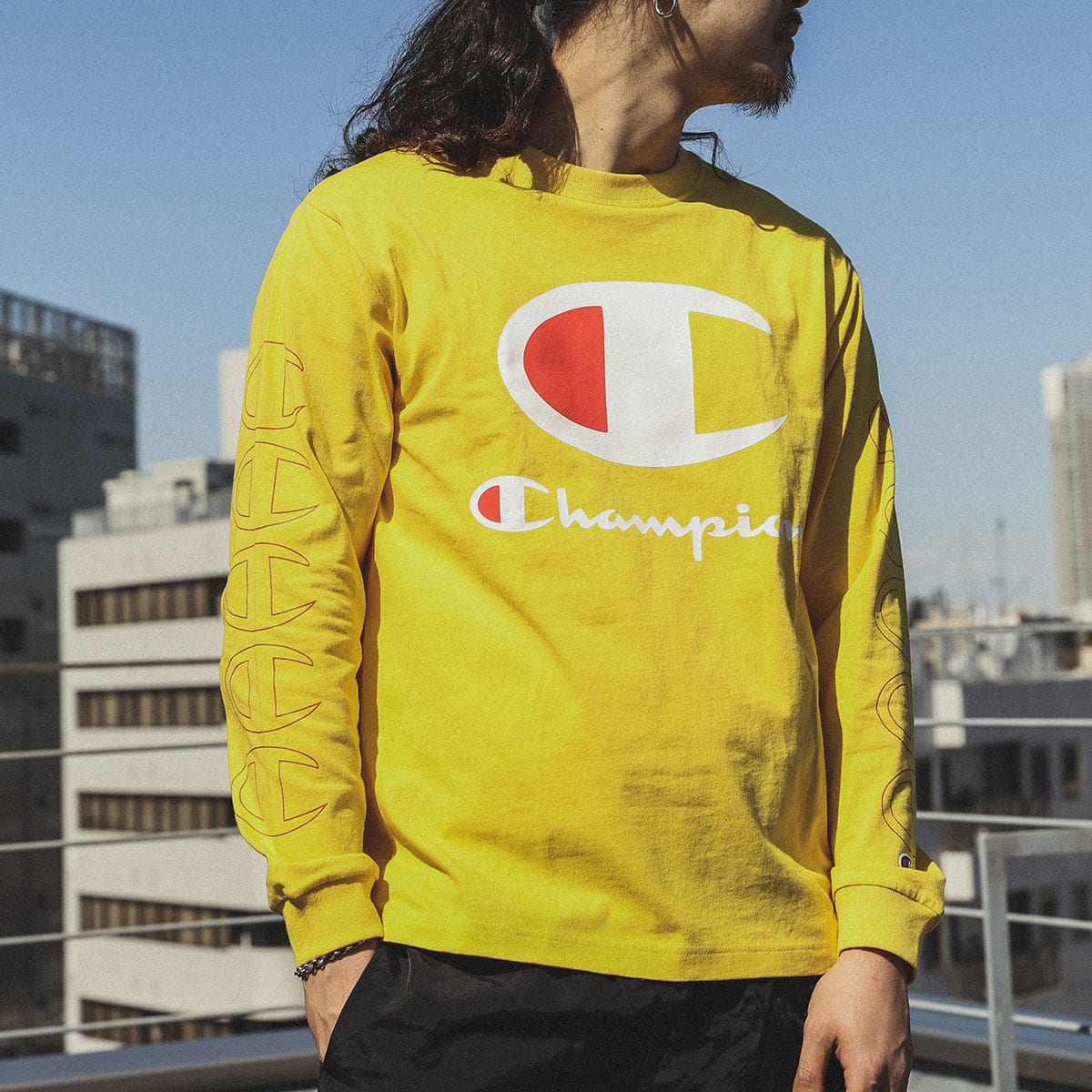 Champion x ATMOS LAB L/S T-SHIRT イエロー 20SS-S_photo_large