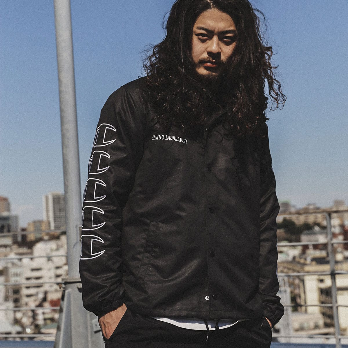 Champion x ATMOS LAB COACH JACKET ブラック 20SS-S_photo_large