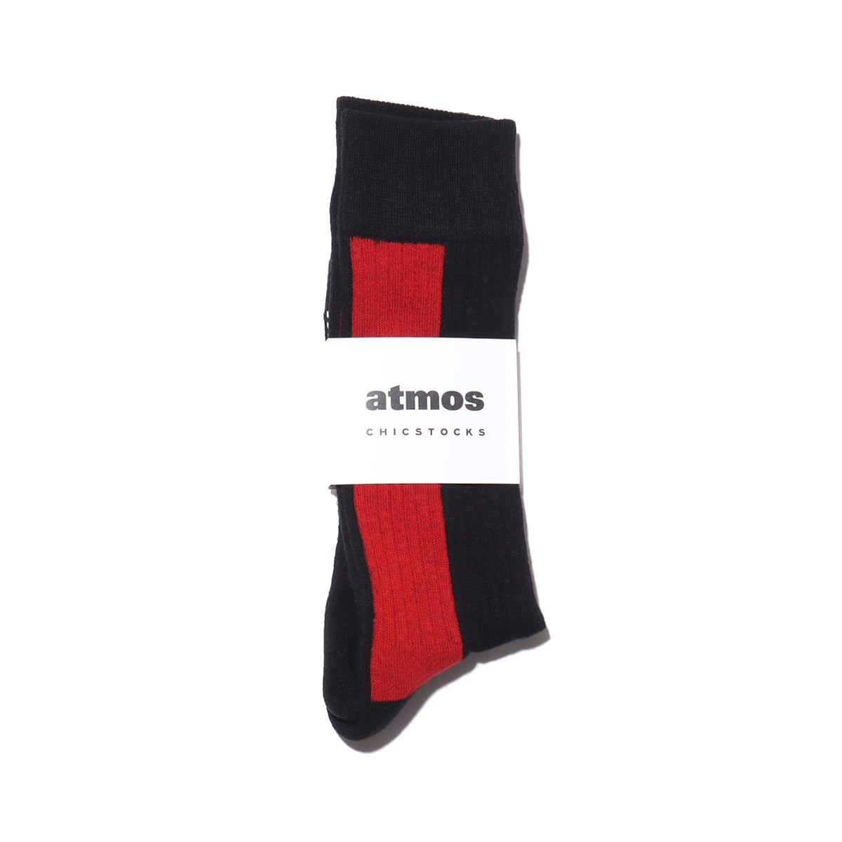 CHICSTOCKS x atmos 1985 RIB SOCKS BLACK/RED 21SP-I_photo_large
