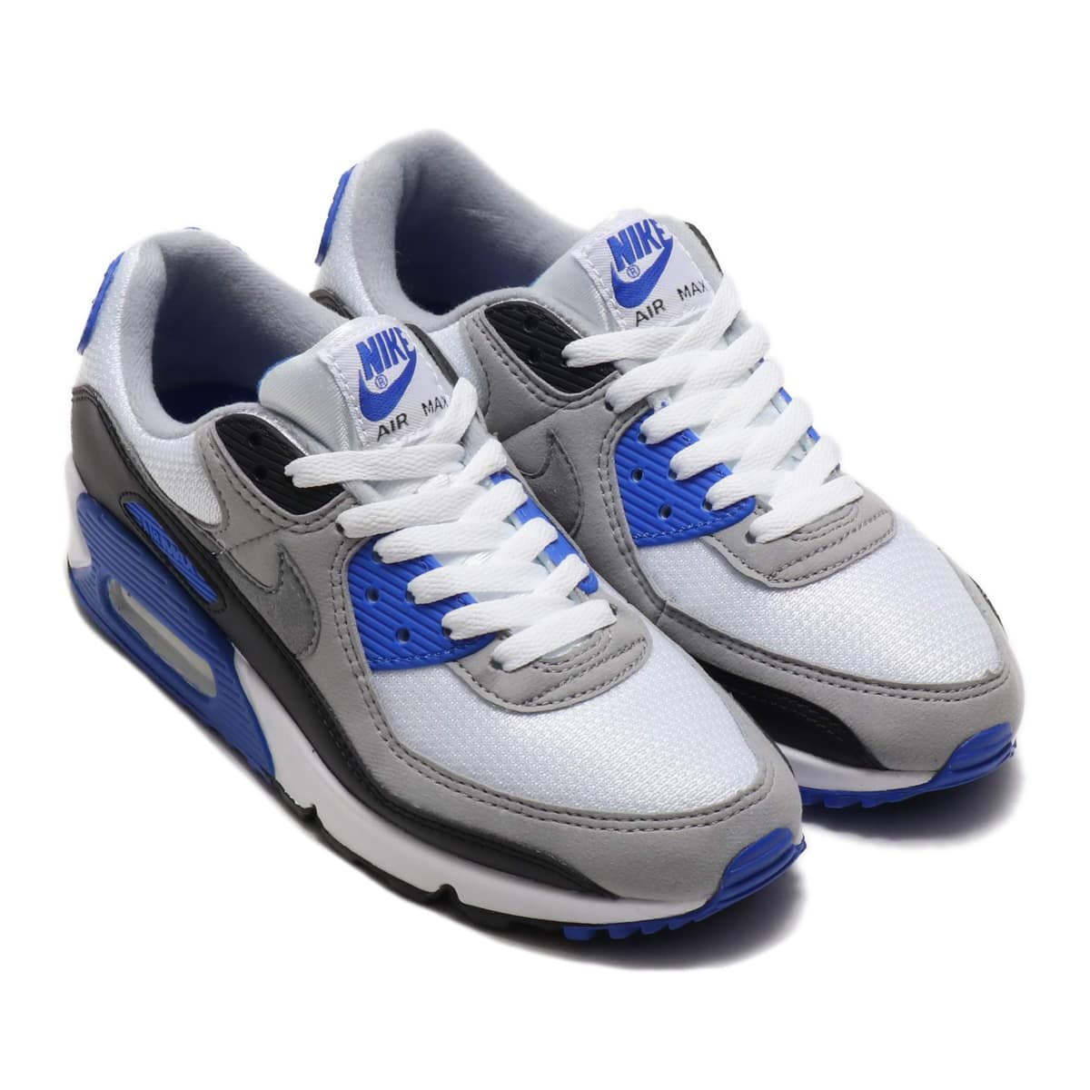 NIKE W AIR MAX 90 WHITE/PARTICLE GREY-HYPER ROYAL-BLACK 20SP-S_photo_large