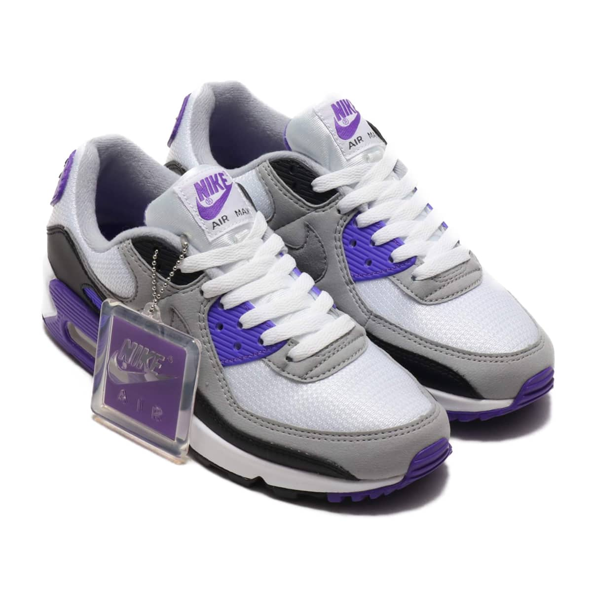NIKE W AIR MAX 90 WHITE/PARTICLE GREY-HYPER GRAPE-BLACK 20SP-S_photo_large