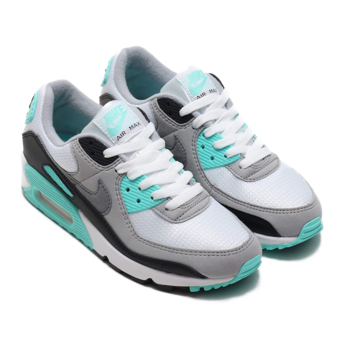 NIKE W AIR MAX 90 WHITE/PARTICLE GREY-HYPER TURQ-BLACK 20SP-S_photo_large