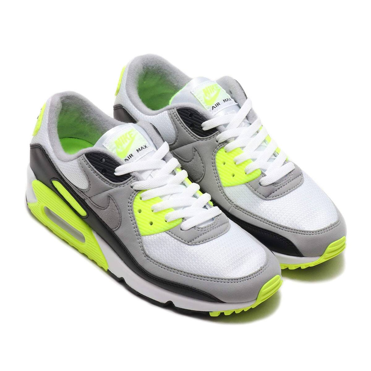 NIKE AIR MAX 90 WHITE/PARTICLE GREY-VOLT-BLACK 20SP-S_photo_large