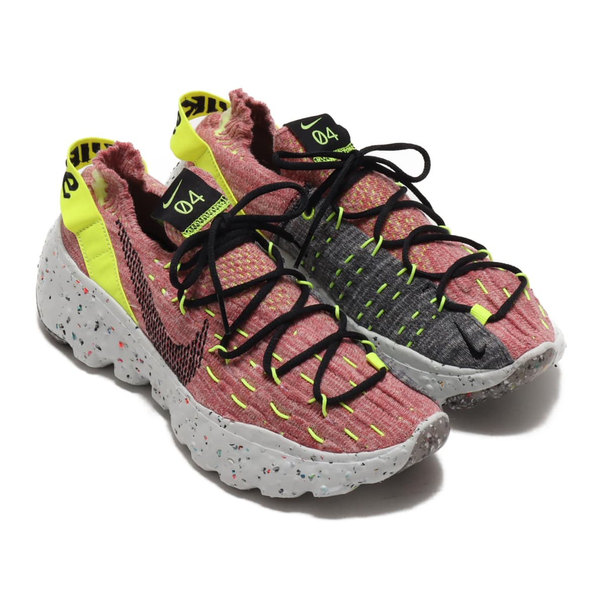 NIKE W SPACE HIPPIE 04 LEMON VENOM/BLACK-LT ARCTIC PINK 20FA-I_photo_large