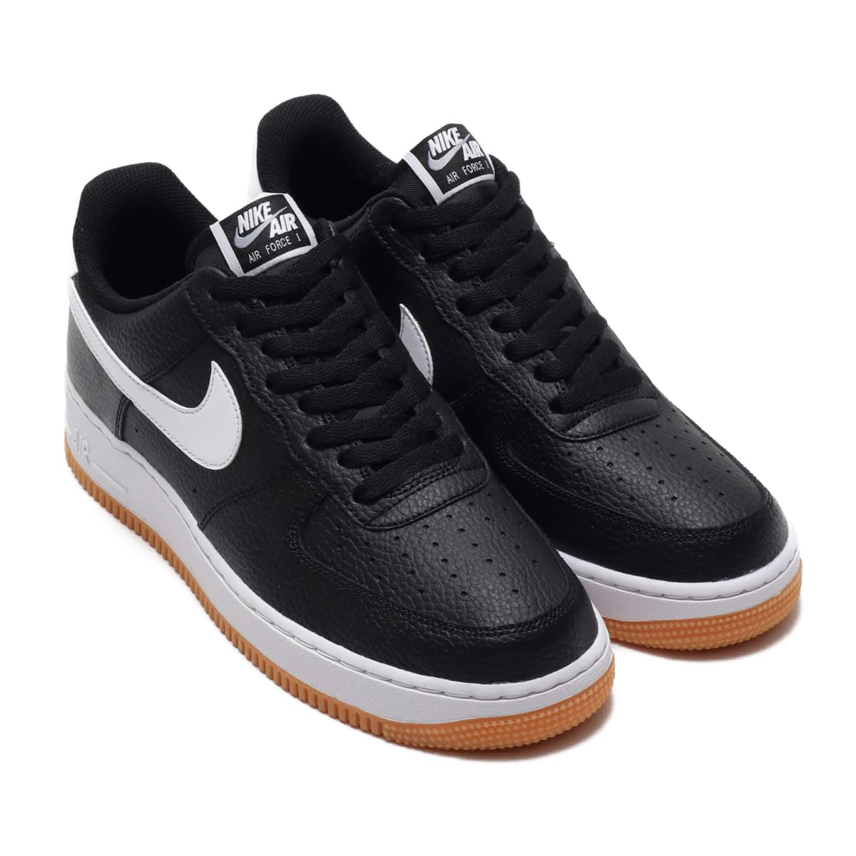 NIKE AIR FORCE 1 '07 2 BLACK/WHITE-WOLF GREY-GUM MED BROWN 19FA-I_photo_large