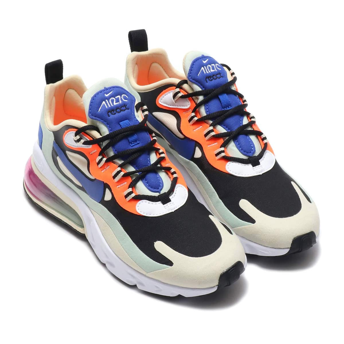 NIKE W AIR MAX 270 REACT FOSSIL/HYPER BLUE-BLACK-PISTACHIO FROST 20SP-S_photo_large