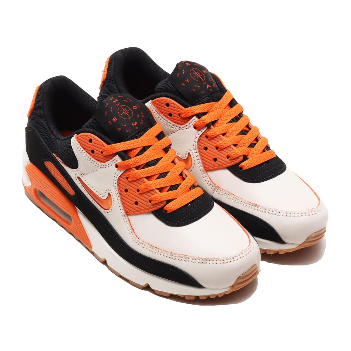 NIKE AIR MAX 90 PRM SAIL/SAFETY ORANGE-BLACK-GUM MED BROWN 20SU-S_photo_large