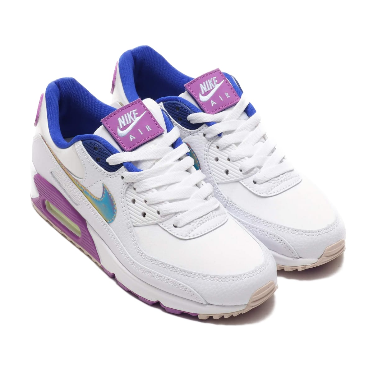 NIKE W AIR MAX 90 SE WHITE/MULTI-COLOR-PURPLE NEBULA 20SU-I_photo_large