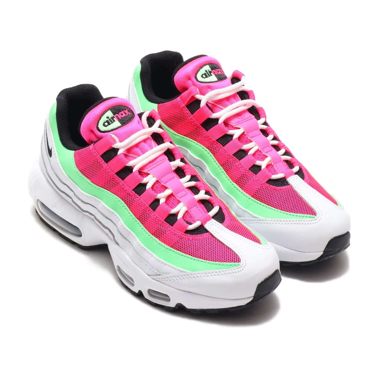 NIKE WMNS AIR MAX 95 WHITE/BLACK-HYPER PINK-ILLUSION GREEN 20SU-I_photo_large