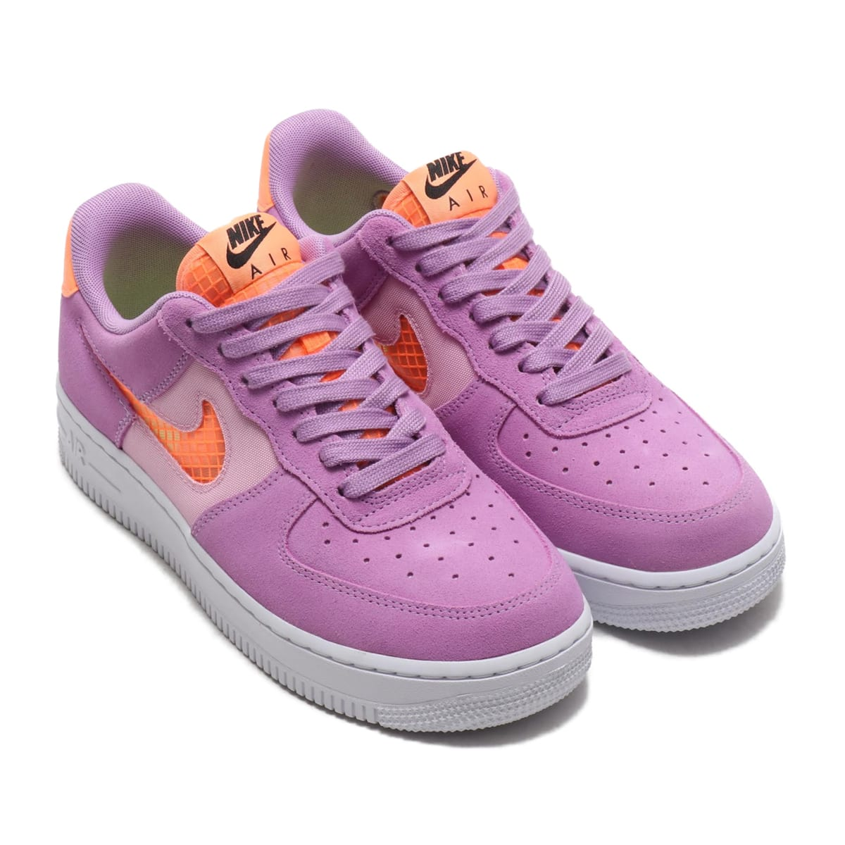 NIKE WMNS AIR FORCE 1 '07 SE VIOLET STAR/ORANGE PULSE-LT ARCTIC PINK 20SU-I_photo_large