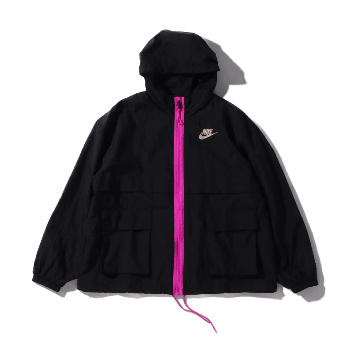 NIKE AS W NSW ICN CLSH JKT WVN BLACK/BLACK/FIRE PINK 20SU-I_photo_large