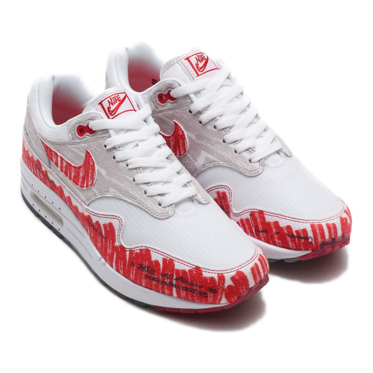 NIKE AIR MAX 1 SKETCH TO SHELF WHITE/UNIVERSITY RED-NEUTRAL GREY 19FA-S_photo_large