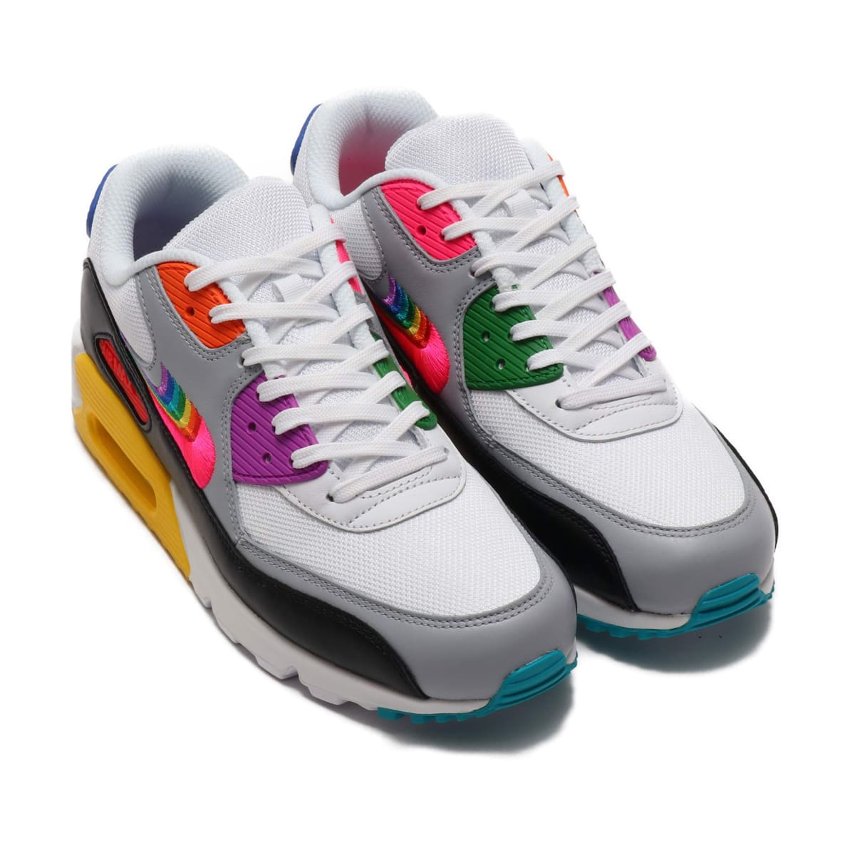 NIKE AIR MAX 90 BETRUE WHITE/MULTI-COLOR-BLACK-WOLF GREY 19SU-S_photo_large