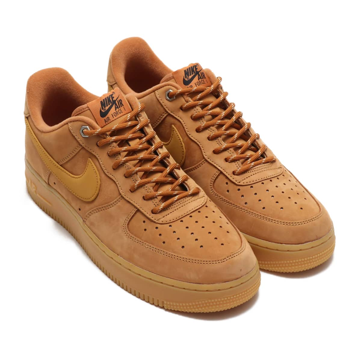 NIKE AIR FORCE 1 '07 WB FLAX/WHEAT-GUM LIGHT BROWN-BLACK 19HO-S_photo_large