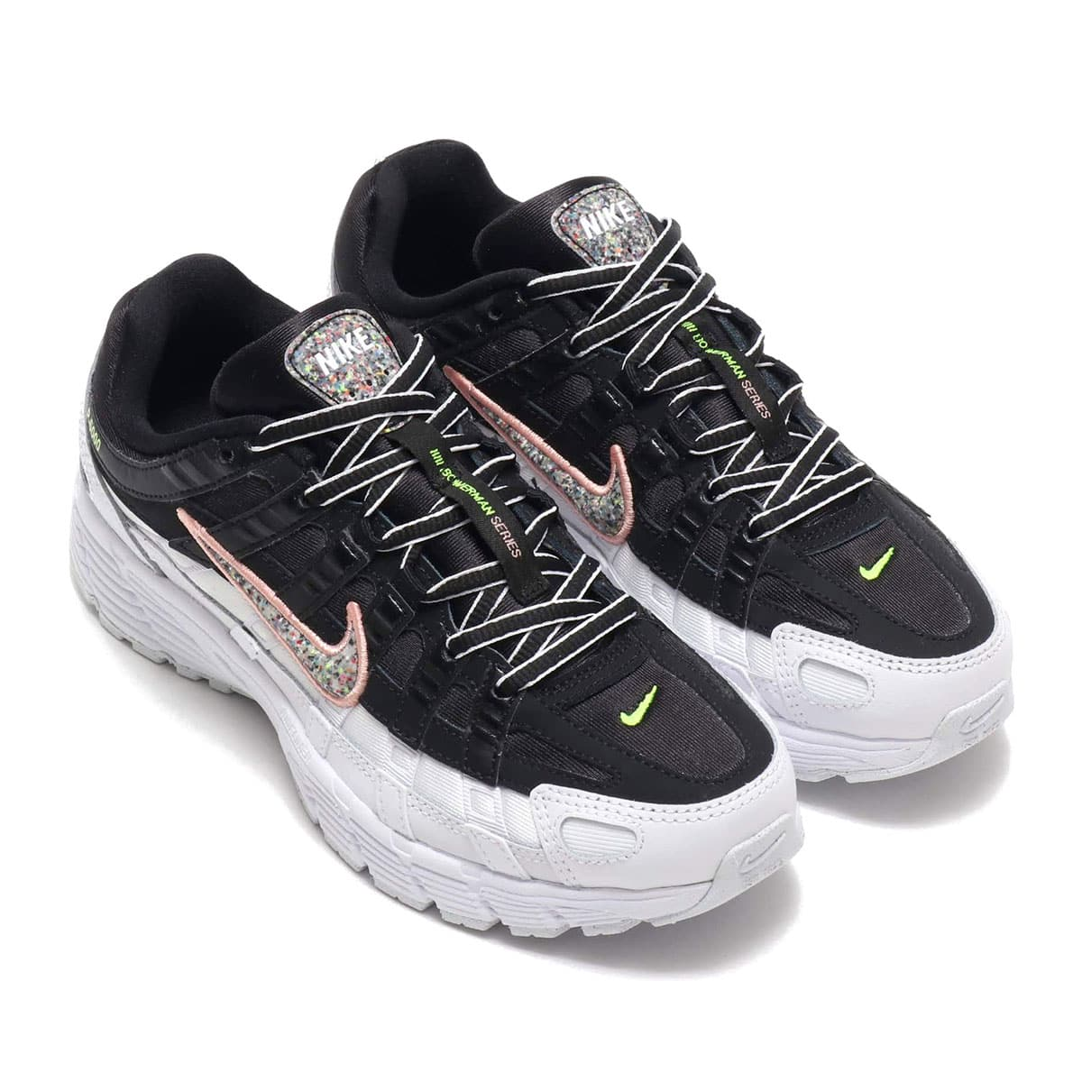 NIKE W P-6000 SE BLACK/MULTI-COLOR-WHITE-CORAL STARDUST 19HO-I_photo_large