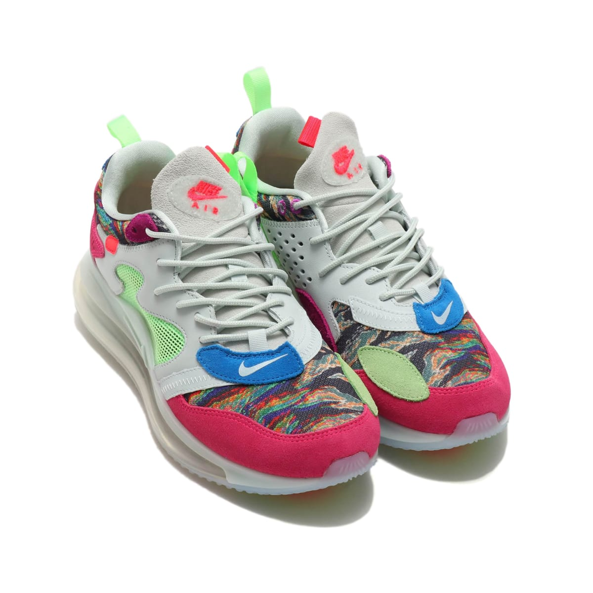 NIKE AIR MAX 720 / OBJ MULTI-COLOR/HYPER PINK-LIME BLAST 19SU-S_photo_large