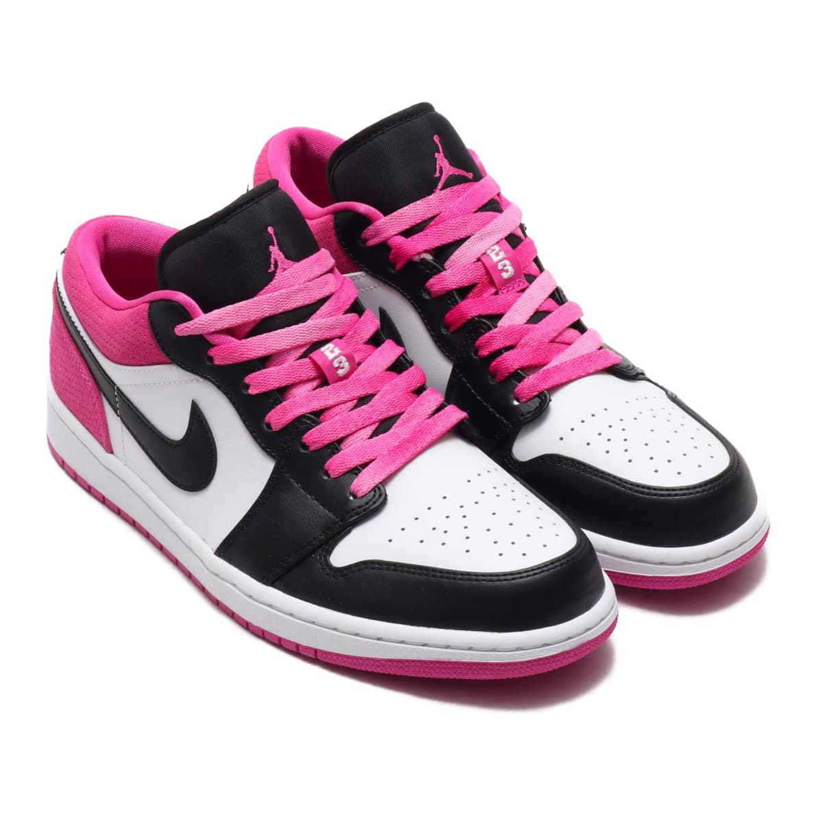 JORDAN BRAND AIR JORDAN 1 LOW SE BLACK/BLACK-ACTIVE FUCHSIA-WHITE 20SU-S_photo_large