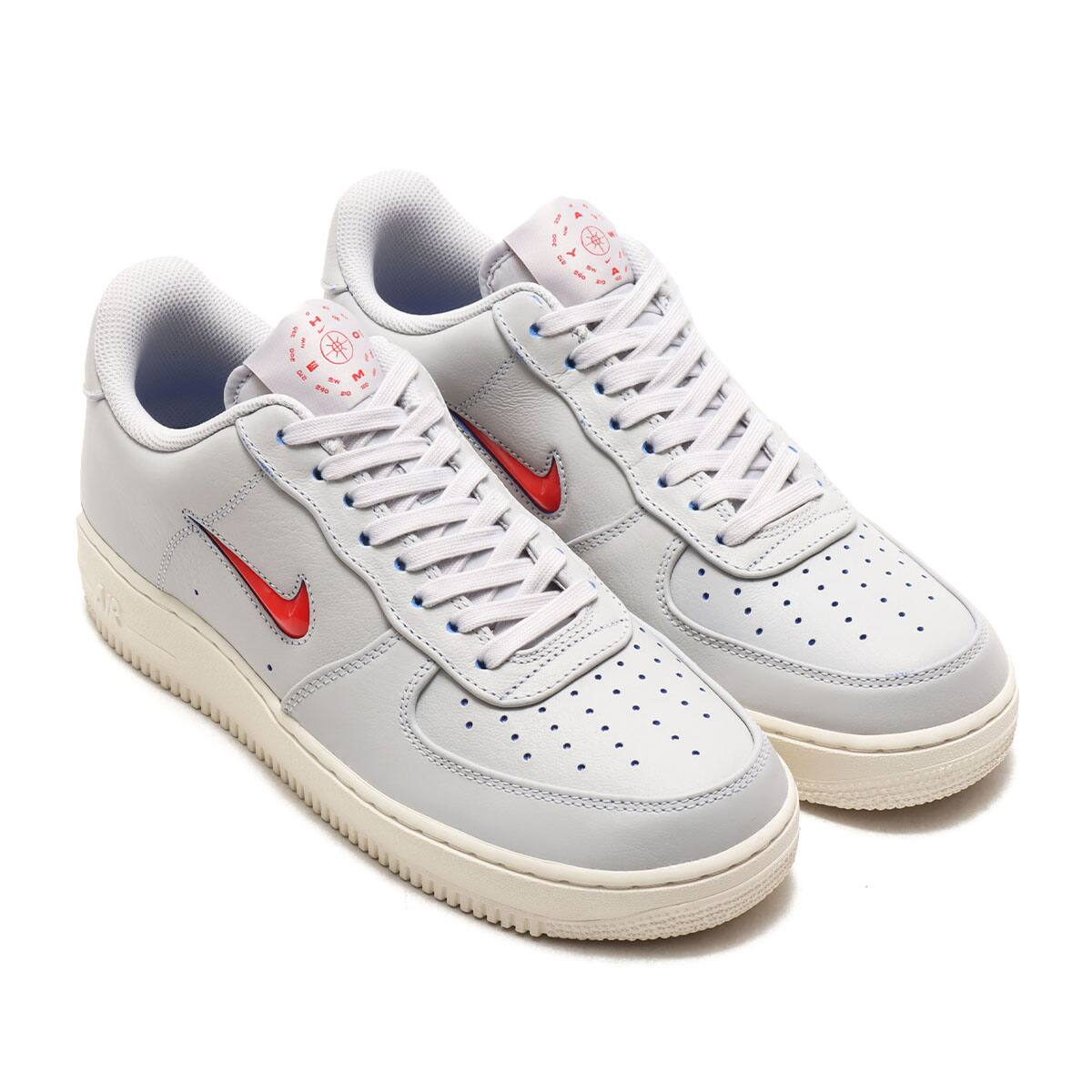 NIKE AIR FORCE 1 '07 PRM VAST GREY/CHALLENGE RED-MEGA BLUE-SAIL 20SU-S_photo_large
