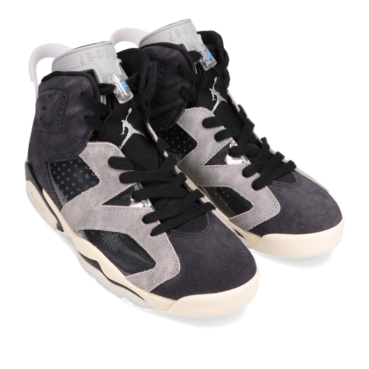 JORDAN BRAND WMNS AIR JORDAN 6 RETRO BLACK/CHROME-LT SMOKE GREY-SAIL 20FA-I_photo_large