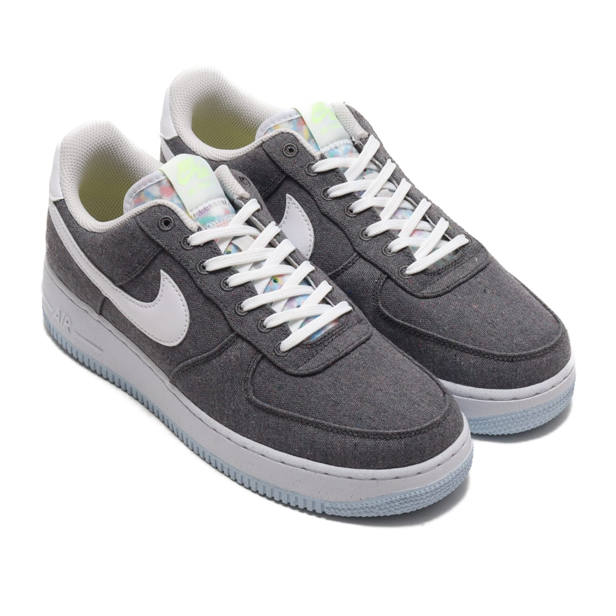 NIKE AIR FORCE 1 '07 IRON GREY/WHITE-BARELY VOLT 20FA-I_photo_large