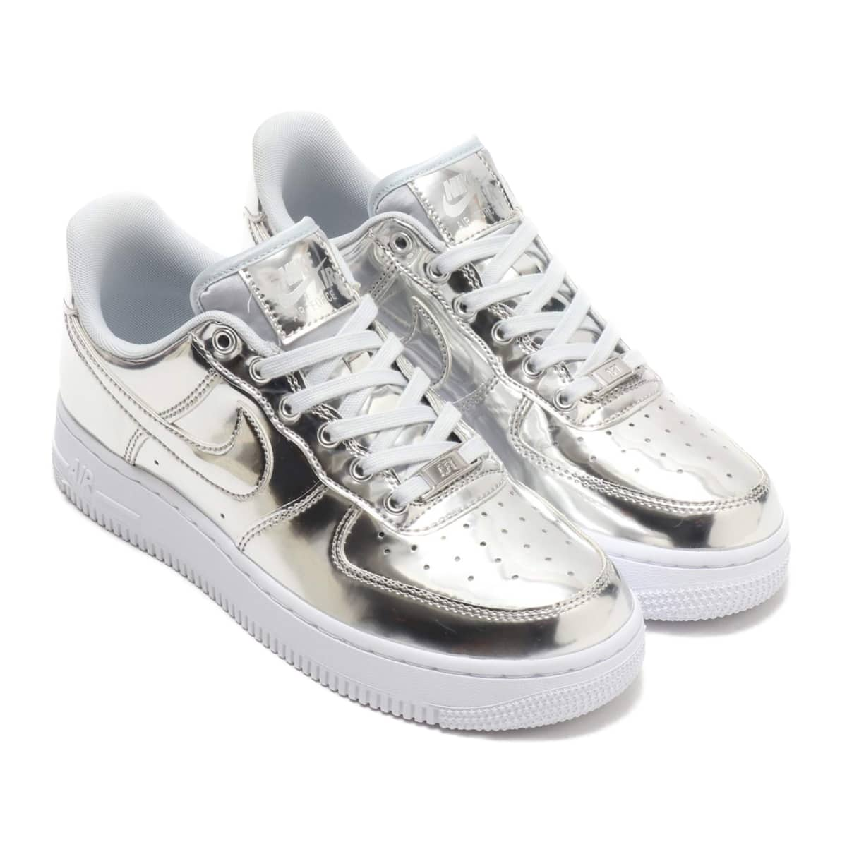 NIKE W AIR FORCE 1 SP CHROME/METALLIC SILVER-WHITE 19HO-S_photo_large