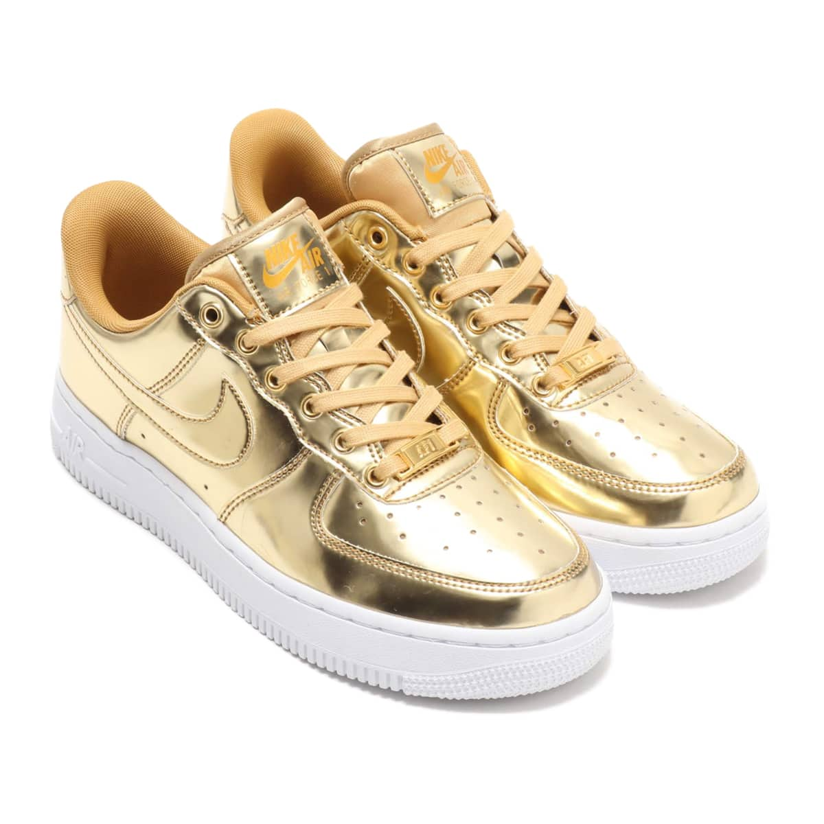 NIKE W AIR FORCE 1 SP METALLIC GOLD/CLUB GOLD-WHITE 19HO-S_photo_large