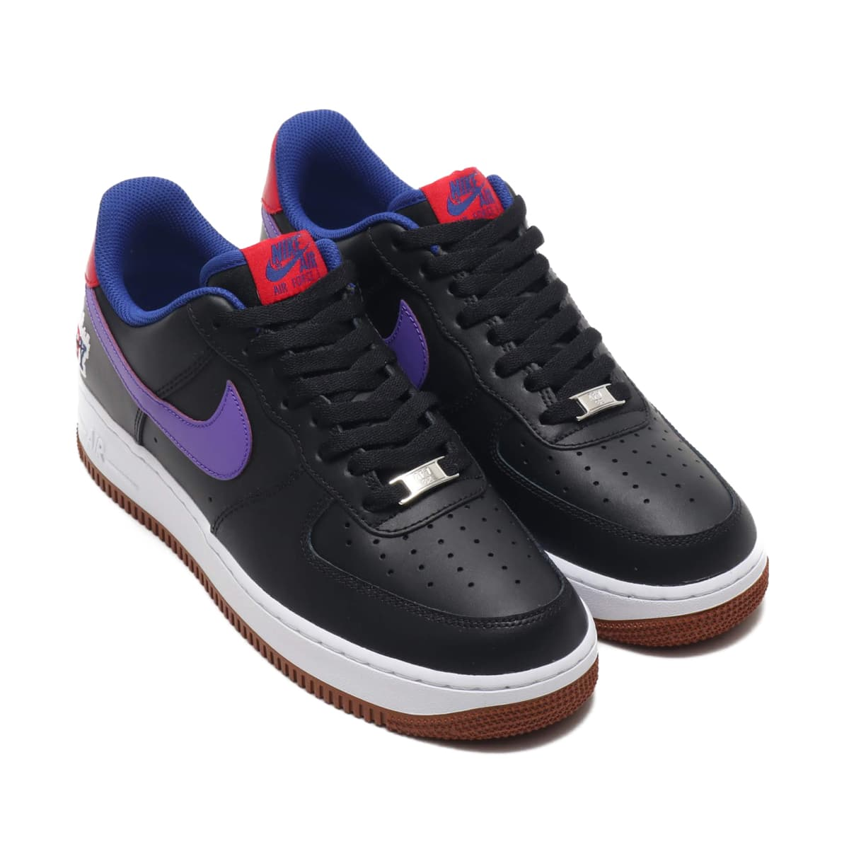 NIKE AIR FORCE 1 '07 LE BLACK/PSYCHIC PURPLE-DEEP ROYAL BLUE 19HO-S_photo_large