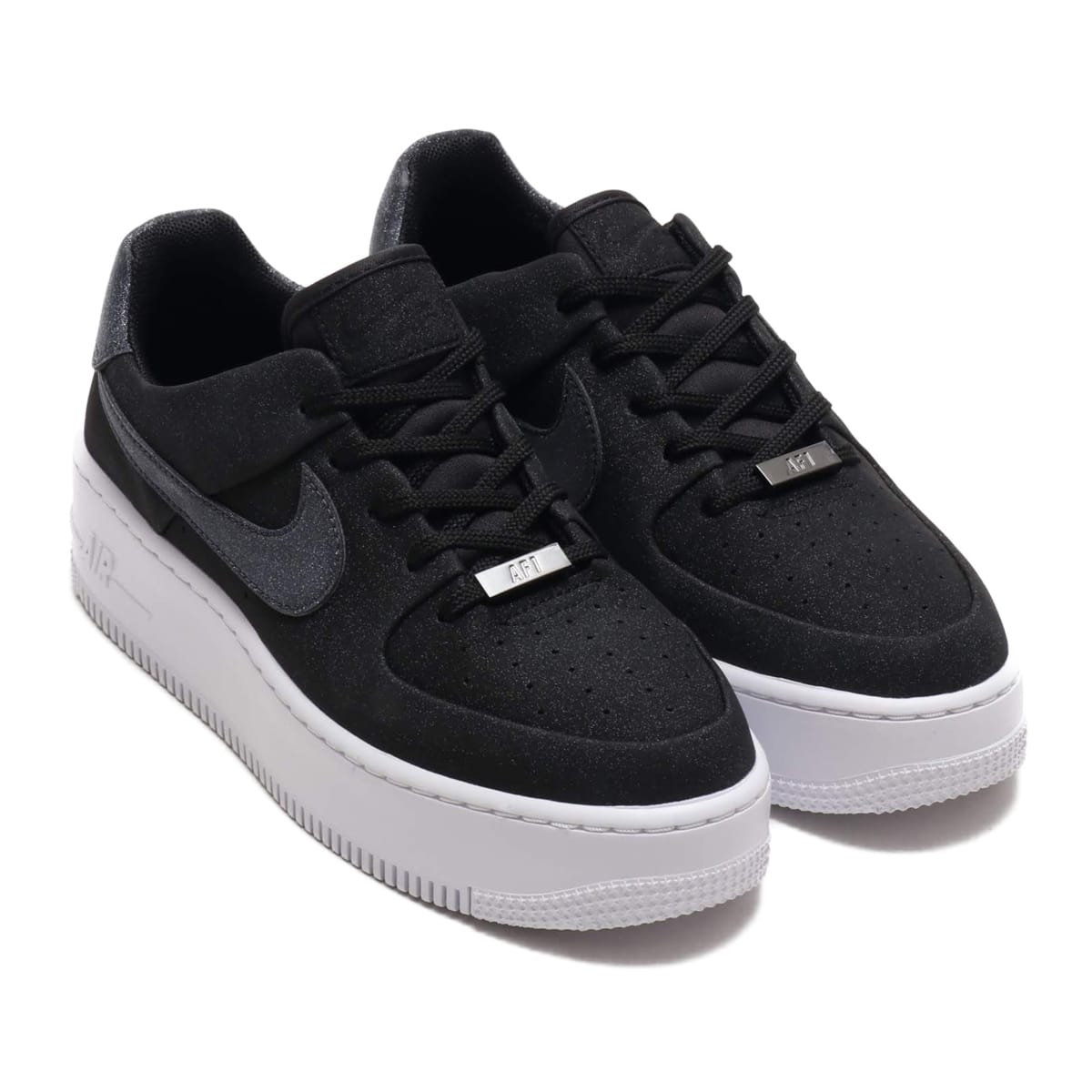 NIKE W AF1 SAGE LOW BLACK/BLACK-WHITE-BLACK 19HO-S_photo_large
