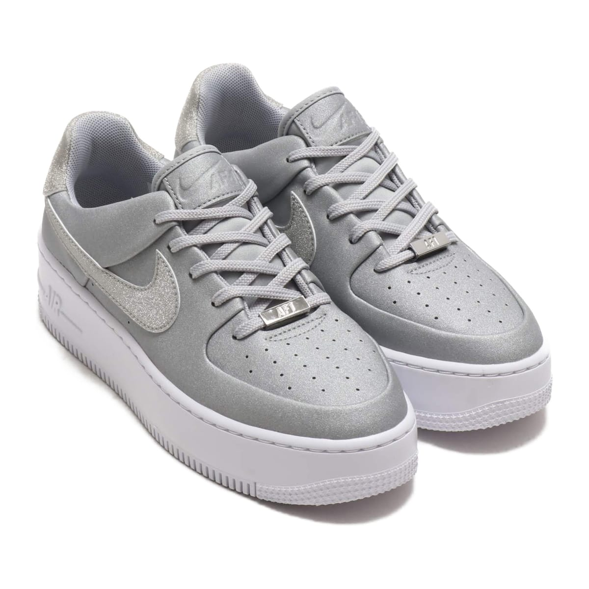 NIKE W AF1 SAGE LOW METALLIC SILVER/METALLIC SILVER-WHITE 19HO-S_photo_large