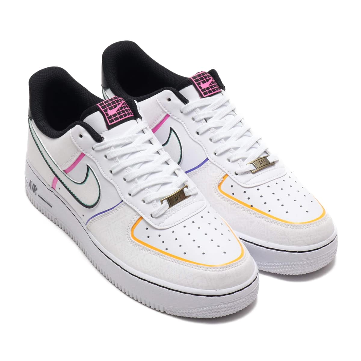 NIKE AIR FORCE 1 '07 PRM WHITE/WHITE-BLACK-KINETIC GREEN 19HO-S_photo_large