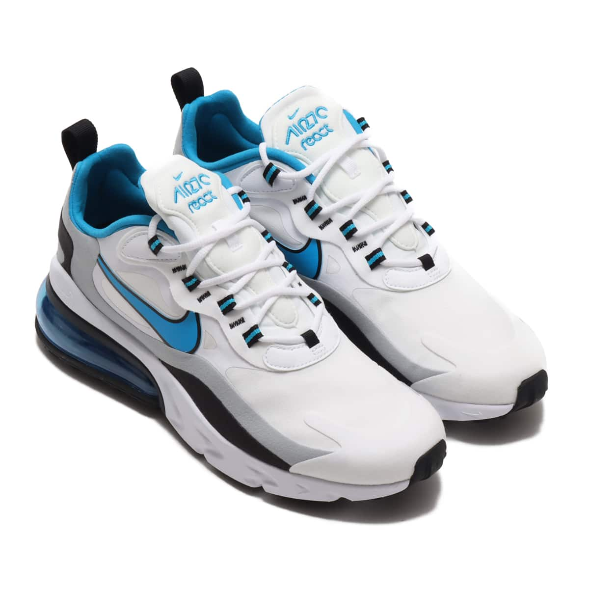NIKE AIR MAX 270 REACT WHITE/LASER BLUE-WOLF GREY-BLACK 20FA-I_photo_large