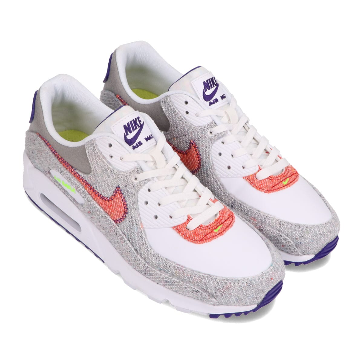 NIKE AIR MAX 90 WHITE/ELECTRIC GREEN-COURT PURPLE 20HO-I_photo_large