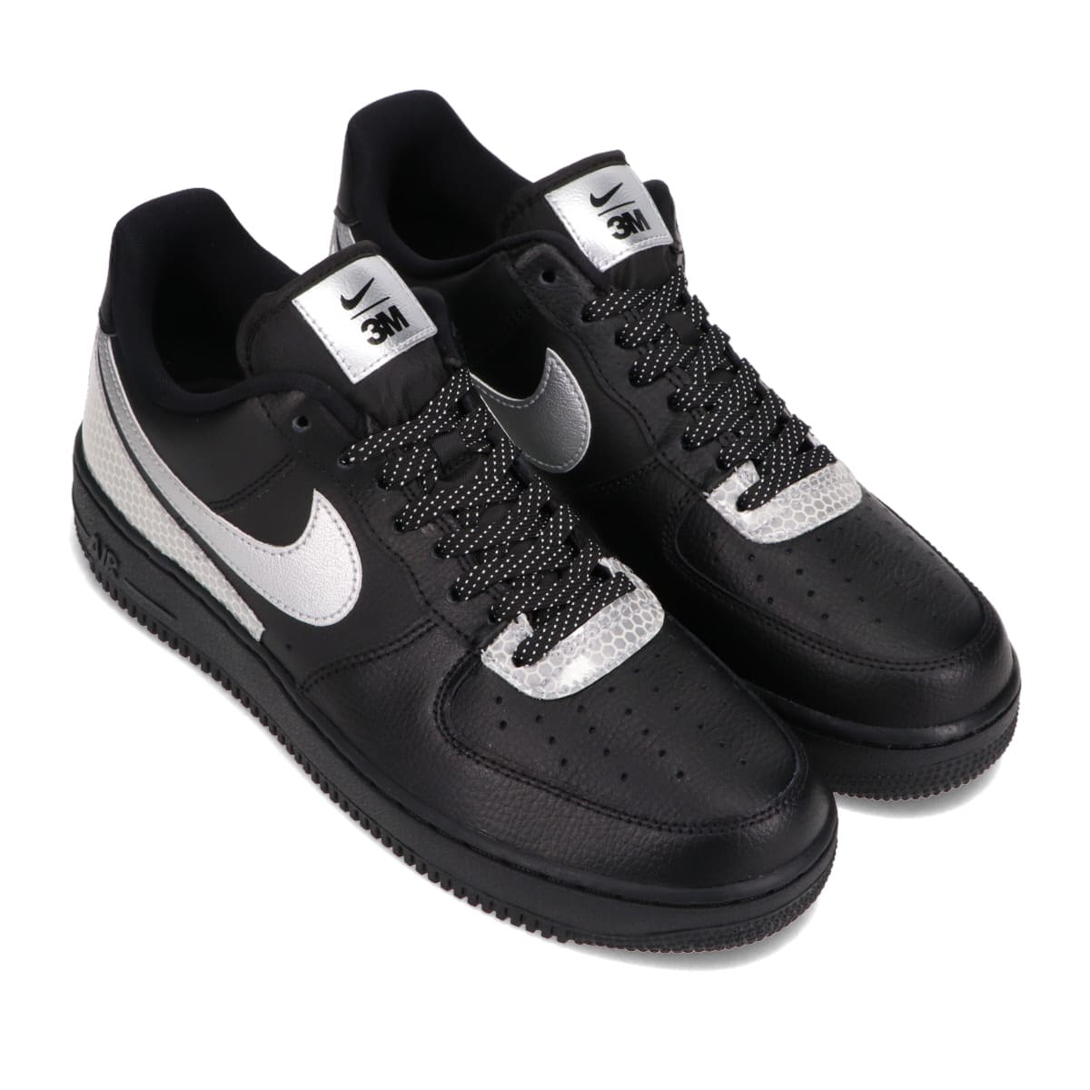 NIKE AIR FORCE 1 '07 LV8 3M BLACK/METALLIC SILVER-BLACK 20HO-I_photo_large