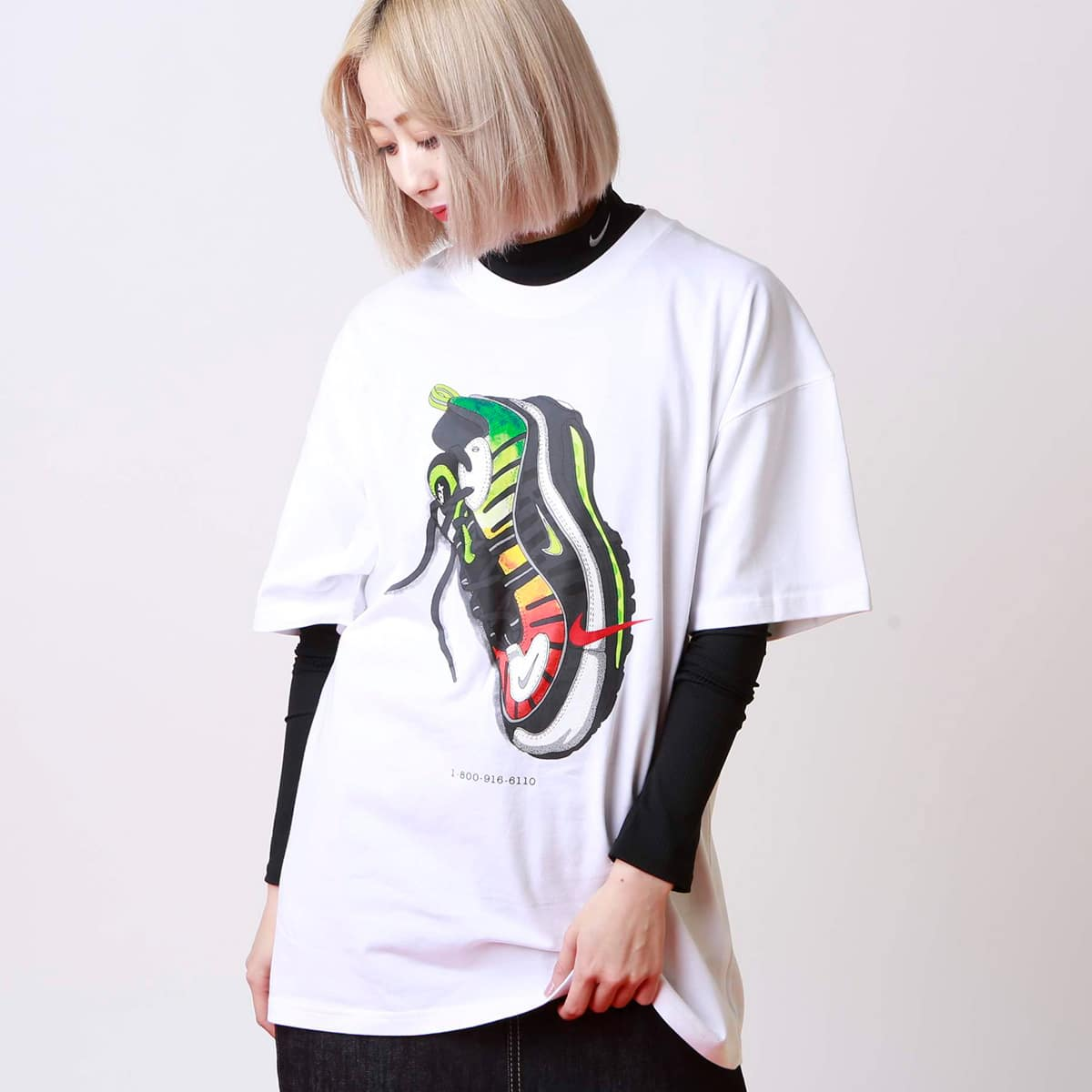 NIKE W NRG NXN SS TEE PD 98 WHITE/UNIVERSITY RED 19HO-S_photo_large