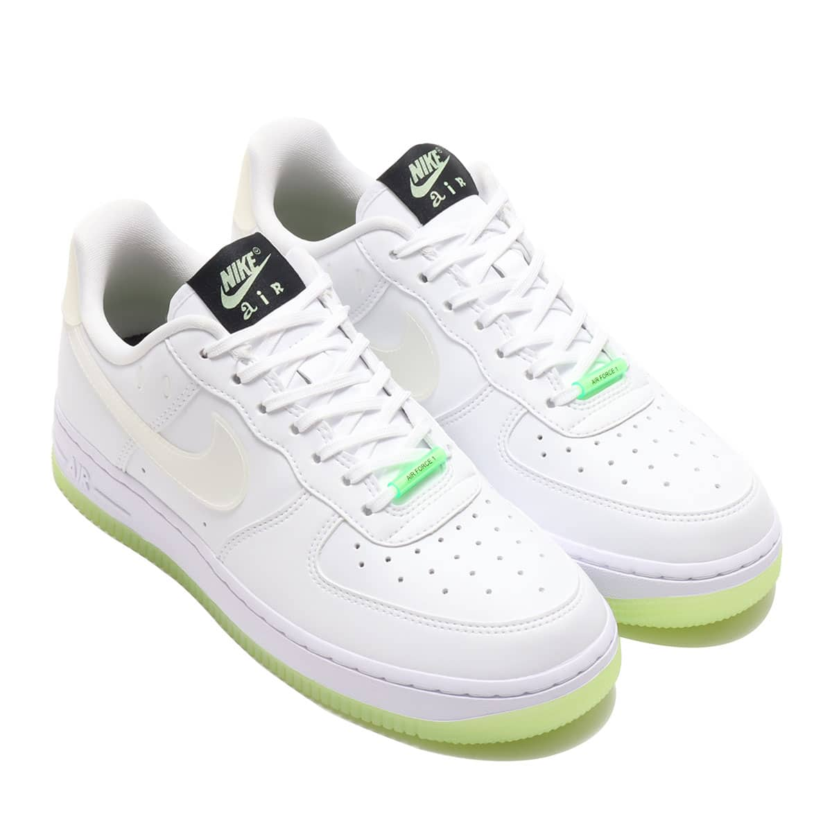 NIKE W AIR FORCE 1 '07 LX WHITE/BARELY VOLT-BLACK-RAGE GREEN 21SP-I_photo_large