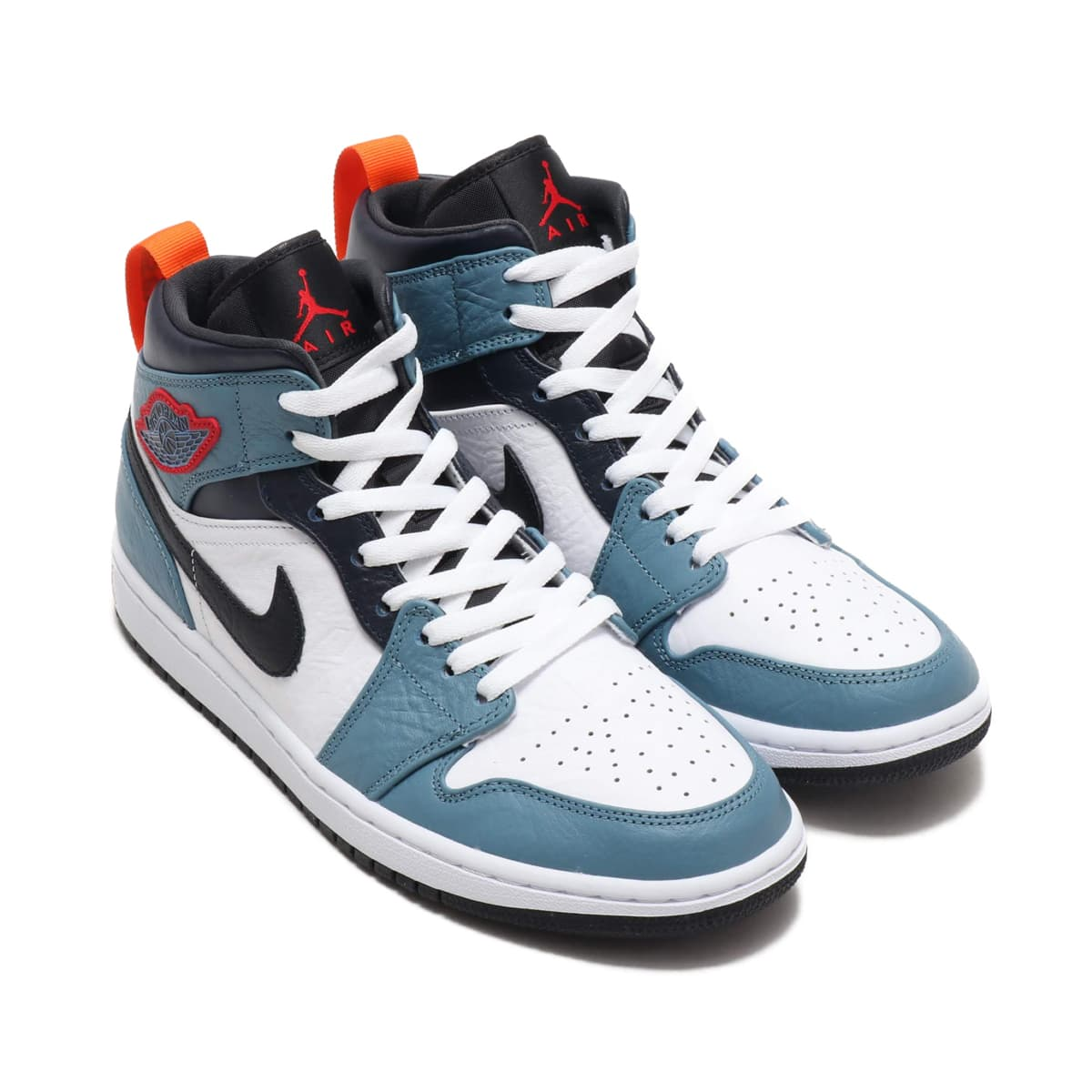 JORDAN BRAND AIR JORDAN 1 MID SE FRLS APLA WHITE/BLACK-CELESTIAL TEAL-DARK OBSIDIAN 19HO-S_photo_large