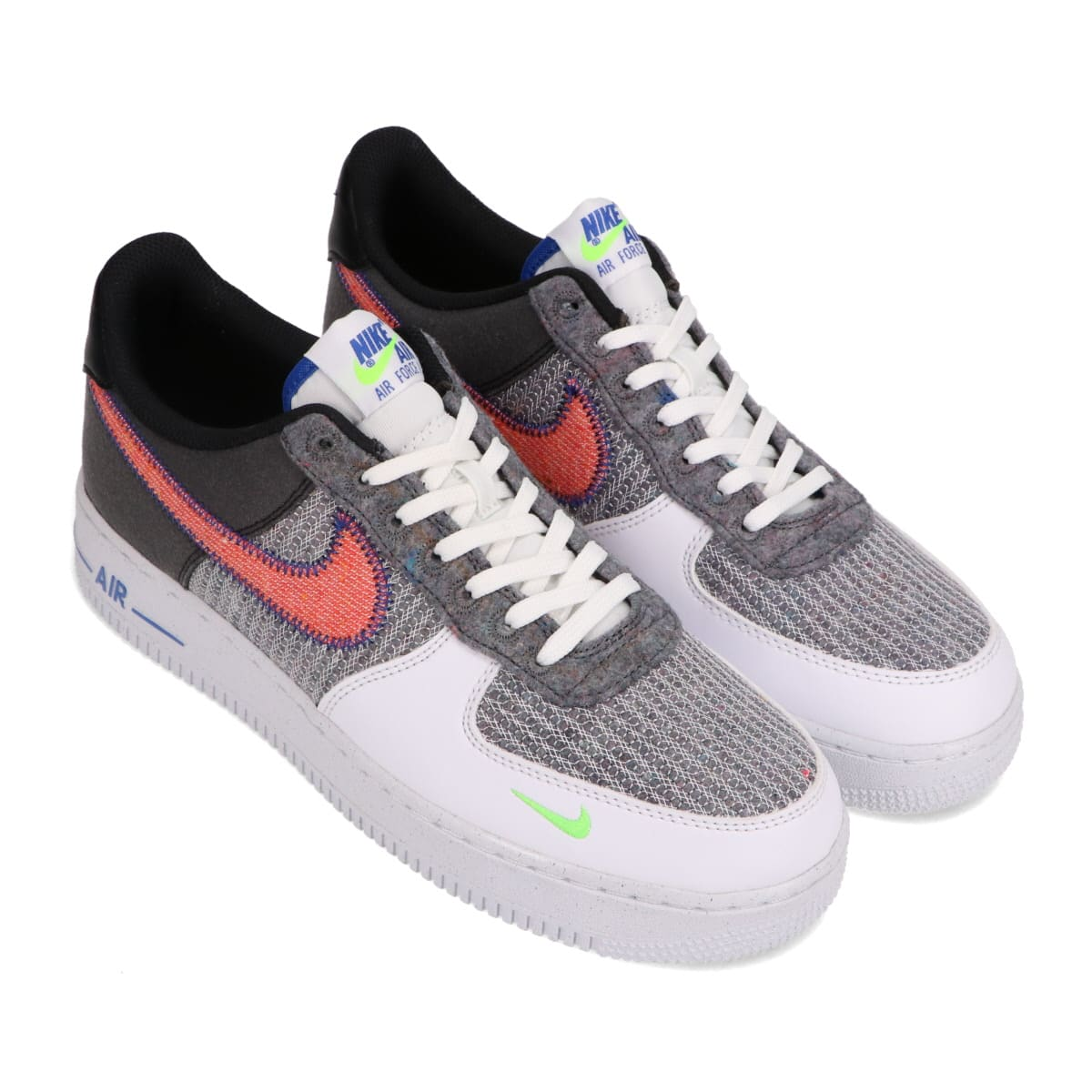 NIKE AIR FORCE 1 '07 WHITE/SPORT RED-GREY-ELECTRIC GREEN 20HO-I_photo_large