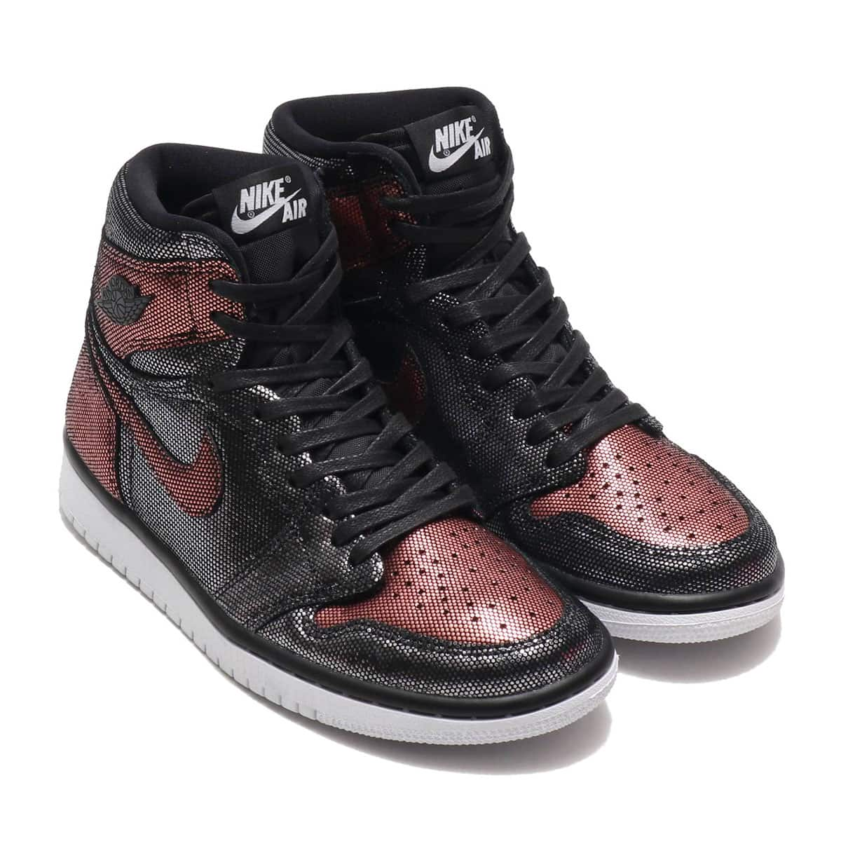 JORDAN BRAND W AIR JORDAN 1 HI OG FEARLESS BLACK/BLACK-MTLC ROSE GOLD-WHITE 19HO-S_photo_large