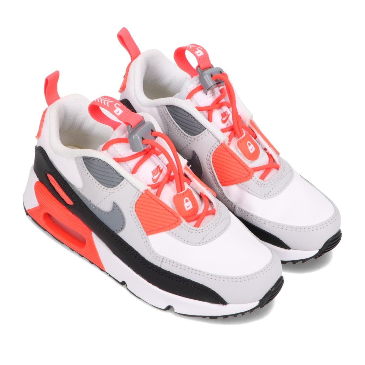 NIKE AIR MAX 90 TOGGLE (PS) WHITE/COOL GREY-NEUTRAL GREY-BLACK 21SP-I_photo_large