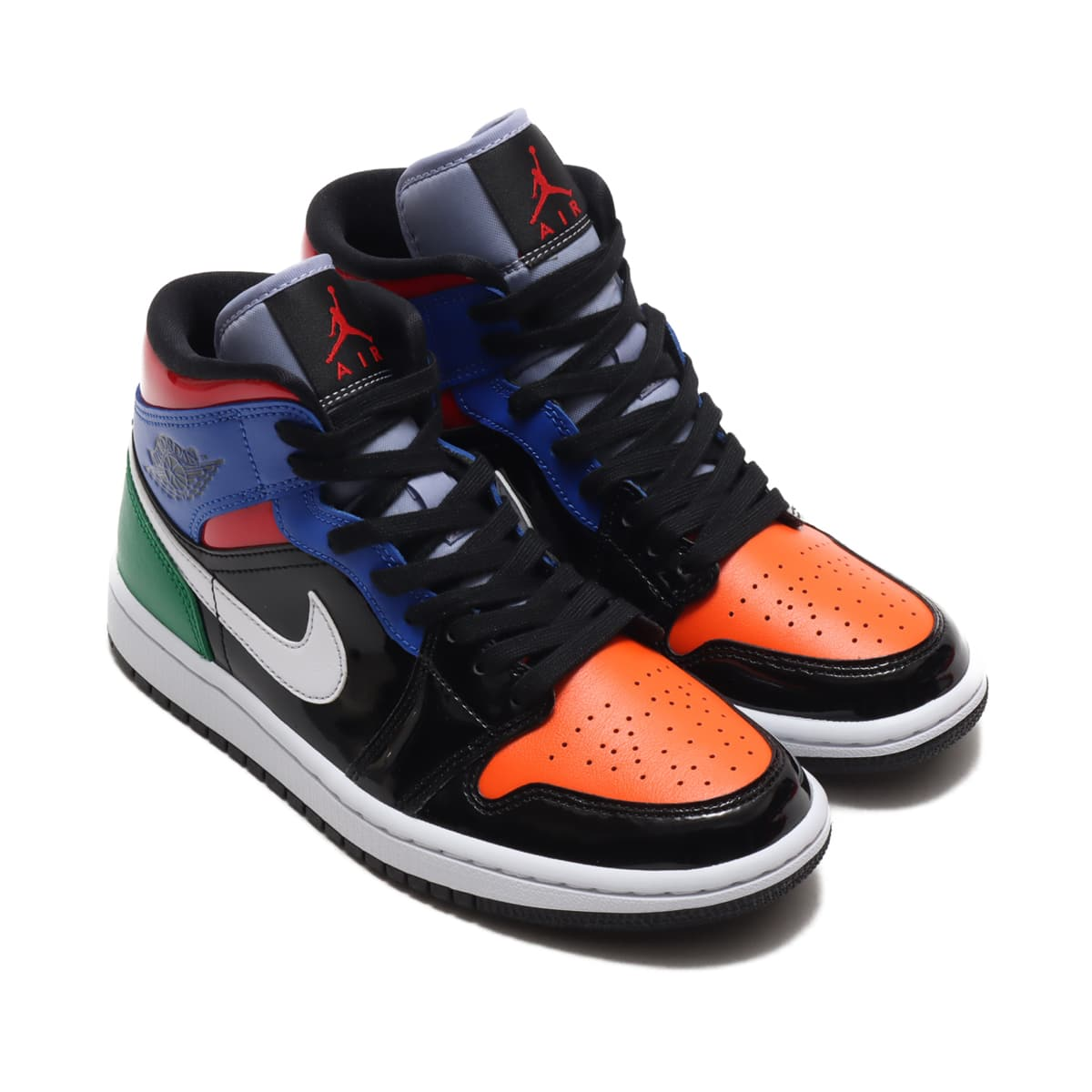 JORDAN BRAND WMNS AIR JORDAN 1 MID SE BLACK/UNIVERSITY RED-HYPER ROYAL 20FA-I_photo_large