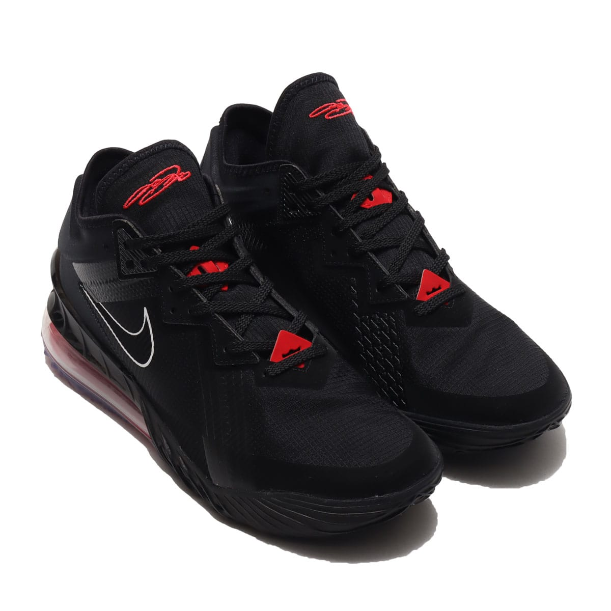 NIKE LEBRON XVIII LOW BLACK/WHITE-UNIVERSITY RED 21SP-I_photo_large