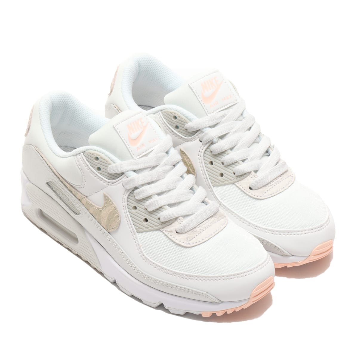 NIKE W AIR MAX 90 SE SUMMIT WHITE/SUMMIT WHITE-WHITE 21SP-I_photo_large