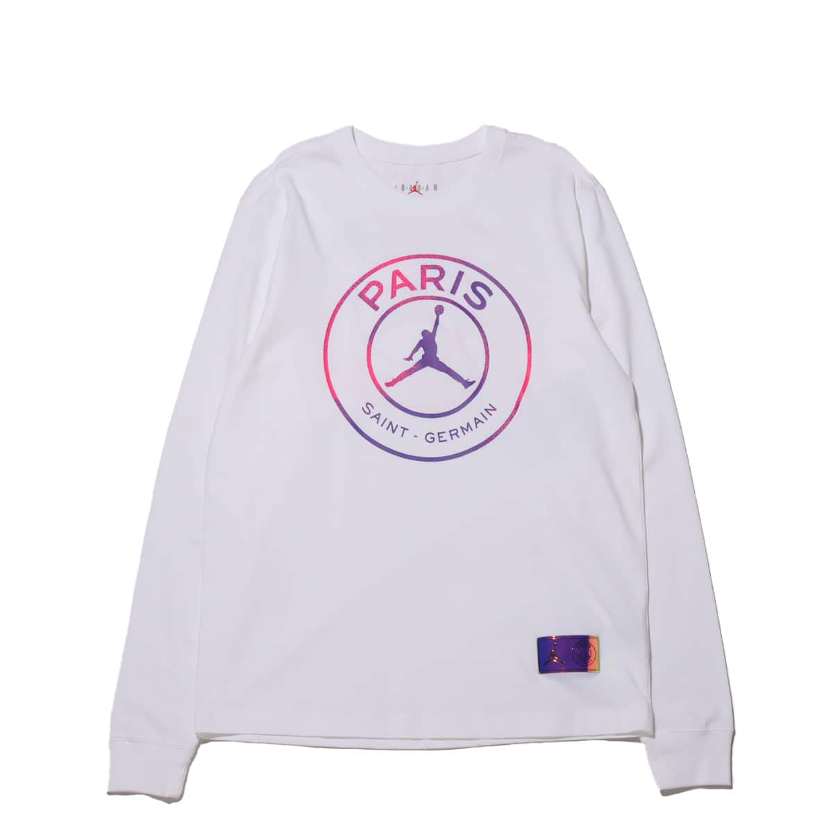 JORDAN BRAND AS M J PSG LS TEE WHITE 21SP-I_photo_large