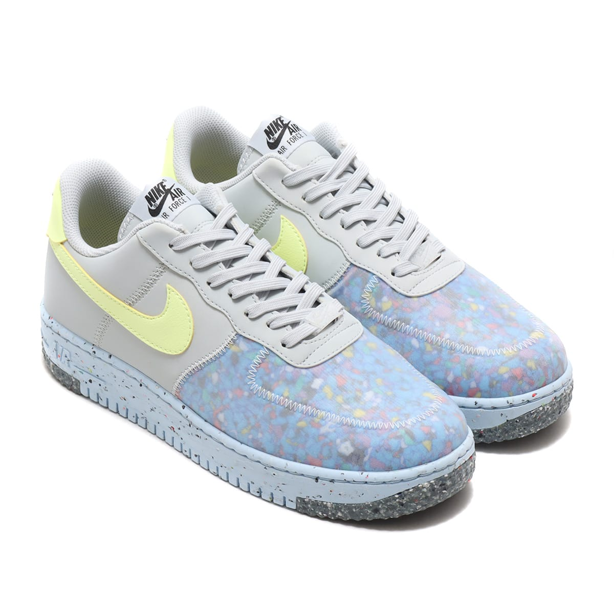 NIKE AIR FORCE 1 CRATER PURE PLATINUM/BARELY VOLT-SUMMIT WHITE 20HO-I_photo_large