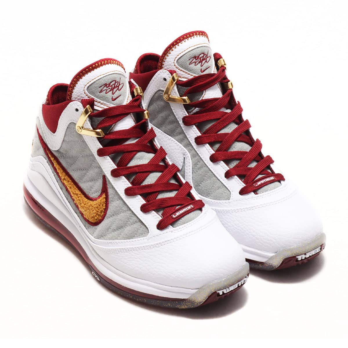 NIKE LEBRON VII (GS) QS WHITE/BRONZE-TEAM RED-WOLF GREY 20SU-S_photo_large
