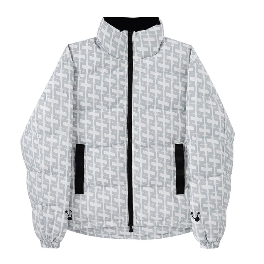 UNKNOWN DOWN MONOGRAM PUFFER WHITE 20HO-I_photo_large