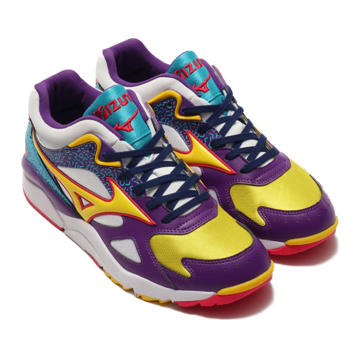 MIZUNO SKY MEDAL WHITE/YELLOW/PURPLE 19AW-I_photo_large