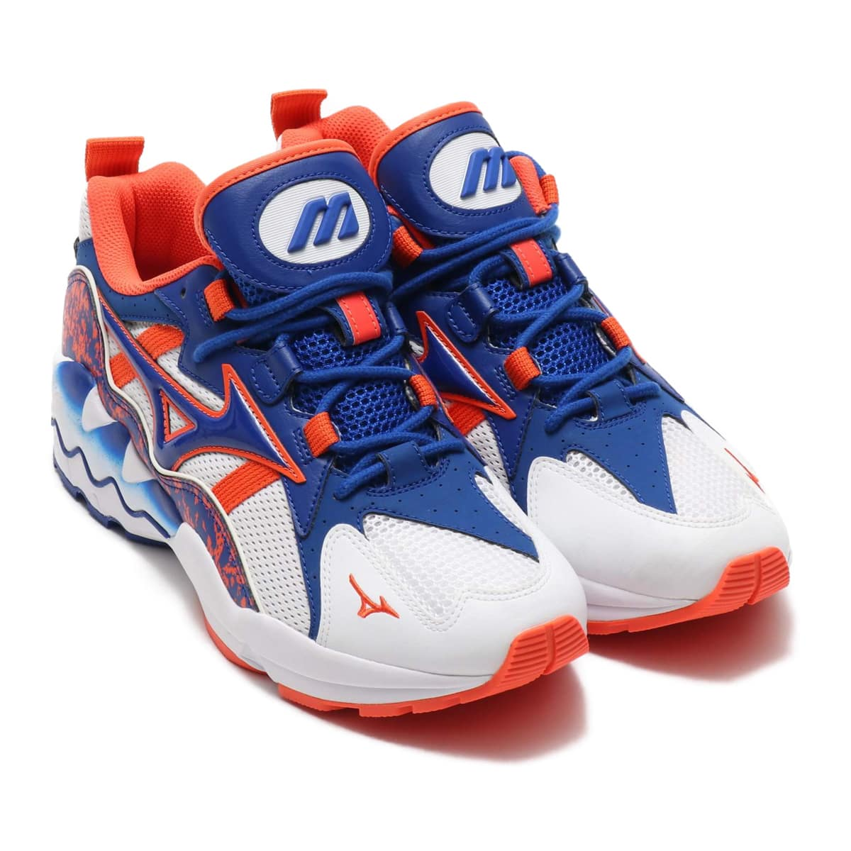MIZUNO WAVE RIDER1 WHITE/BLUE/ORANGE 19SS-I_photo_large