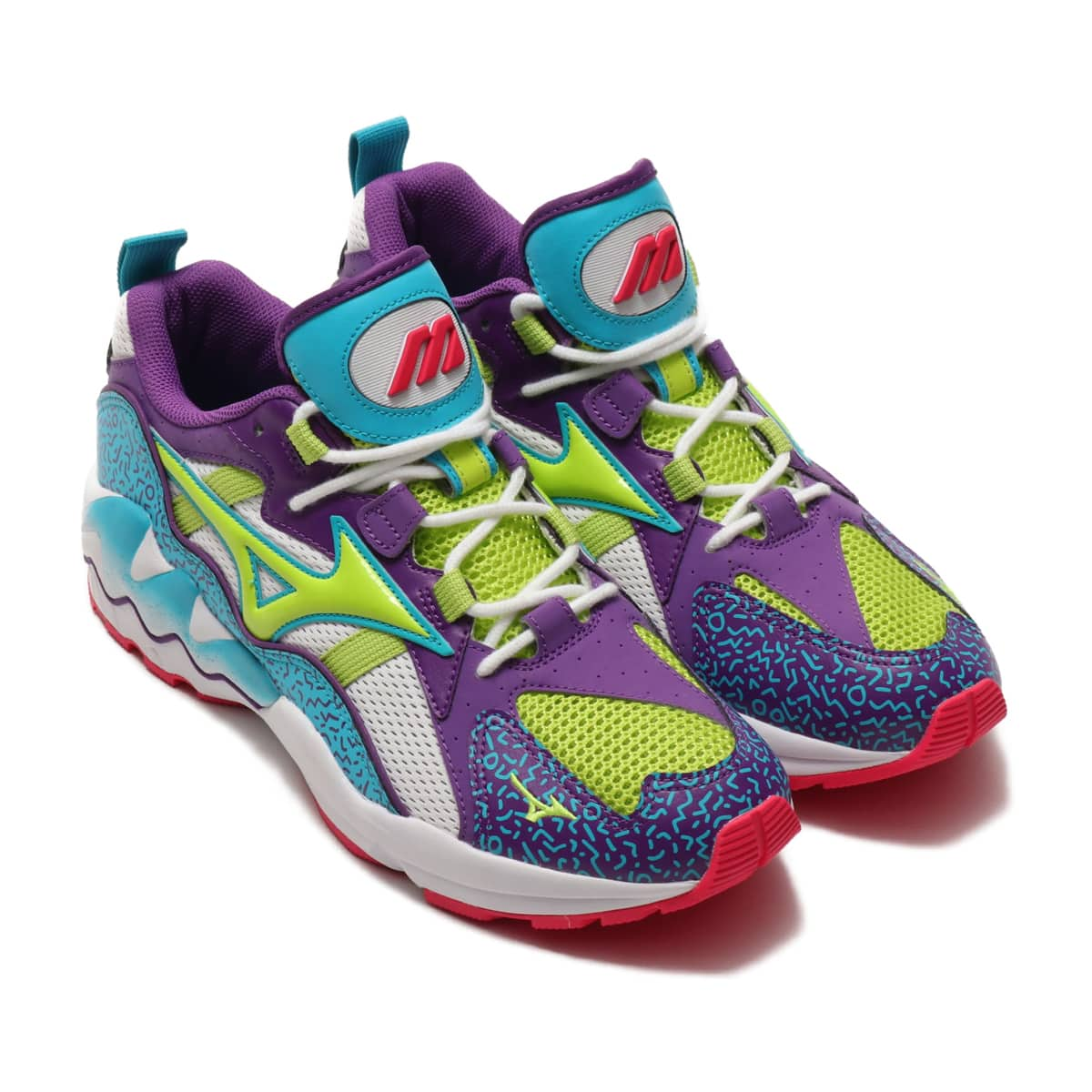 MIZUNO WAVE RIDER 1 WHITE/GREEN/PURPLE 19AW-I_photo_large