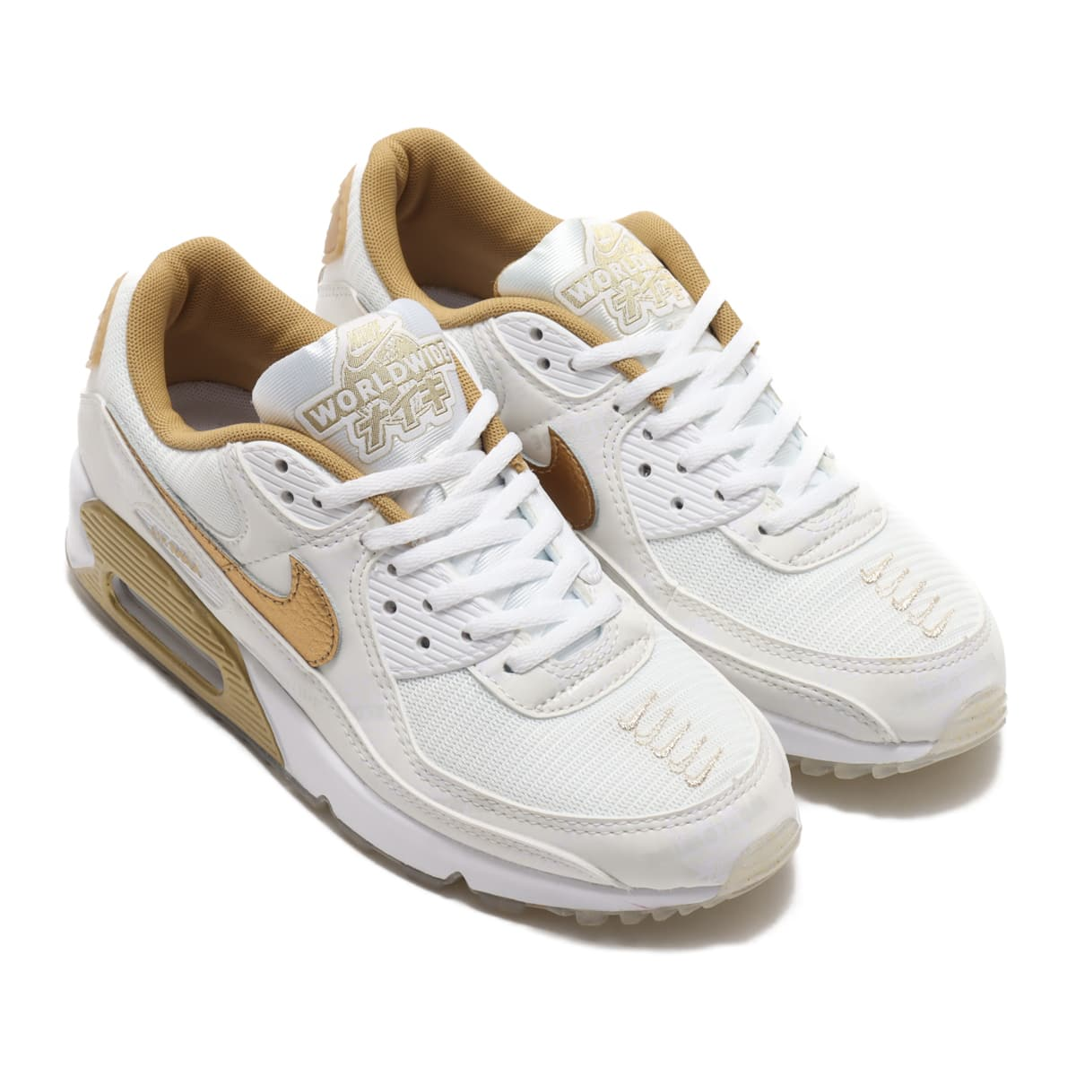 NIKE W AIR MAX 90 SE WHITE/METALLIC GOLD-PLATINUM TINT 20FA-S_photo_large